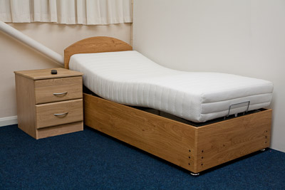 Wood Grain Surround Adjustable Bed